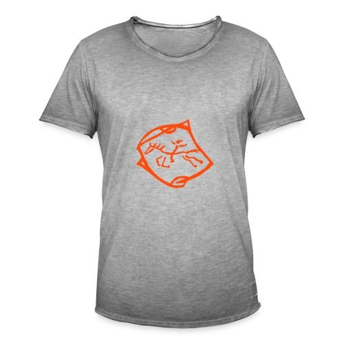 Indian Rider, Men Vintage Shirt ( Print: Neon Orange) - Männer Vintage T-Shirt