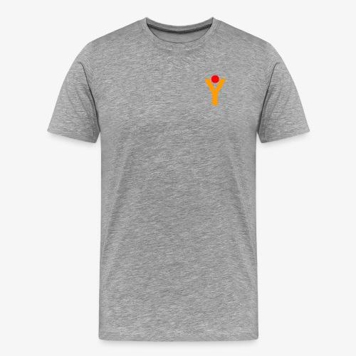 T-Shirt - Grau meliert - Männer Premium T-Shirt