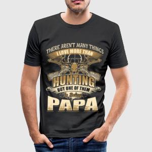Papa - Hunting - EN T-Shirts - Männer Slim Fit T-Shirt