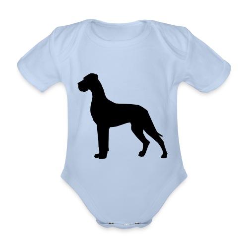 Dogge schwarz - Baby Bio-Kurzarm-Body