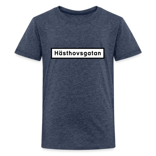 Hästhovsgatan gatuskylt - tonår - Premium-T-shirt tonåring