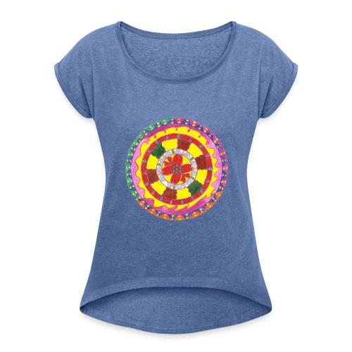 Creativity Heart t-shirt - Maglietta da donna con risvolti