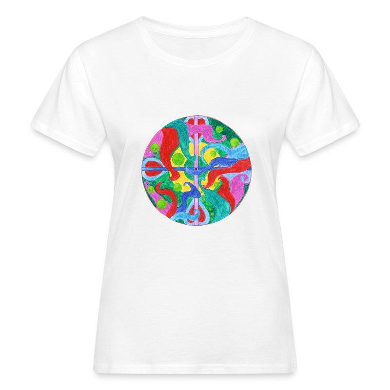 Creativity Balance organic cotton t-shirt - T-shirt ecologica da donna