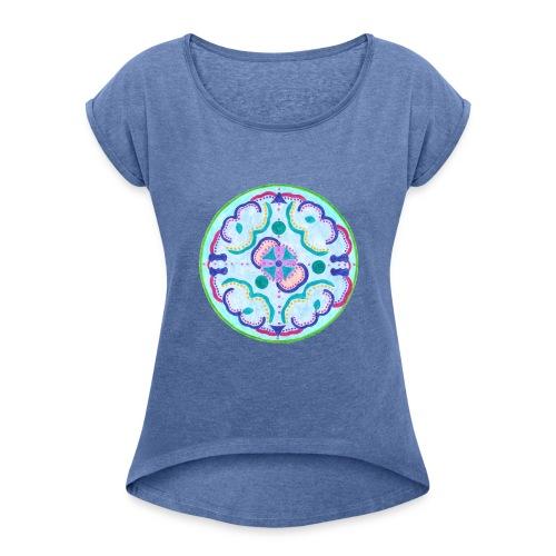Creativity Peace t-shirt - Maglietta da donna con risvolti