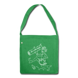 Hei-j Land Games white bag - Schoudertas van gerecycled materiaal