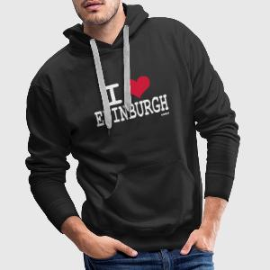 Black i love edinburgh by wam Jumpers - Men's Premium Hoodie