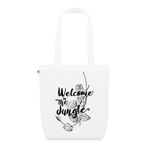 Welcome to the Jungle – white - Bio-Stoffbeutel