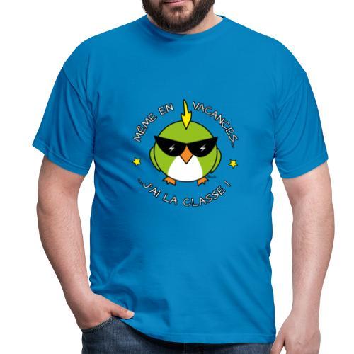 T-shirt BC Homme Oiseau Cool, Vacances, J'ai la Classe! - T-shirt Homme