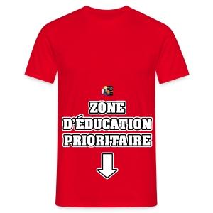 ZONE D'ÉDUCATION PRIORITAIRE - JEUX DE MOTS - FRANCOIS VILLE - T-shirt Homme