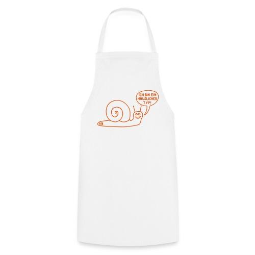 Schürze Ich bin ein häuslicher Typ-Schnecke - Kochschürze