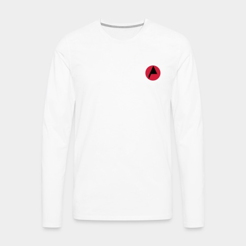 Original A Men Long Sleeve White - Men's Premium Longsleeve Shirt