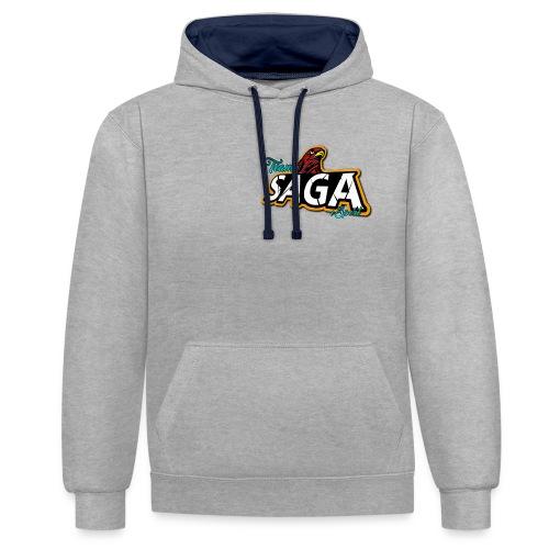 NEW!!! TeamSAGA Premium Hoodie - Kontrast-Hoodie