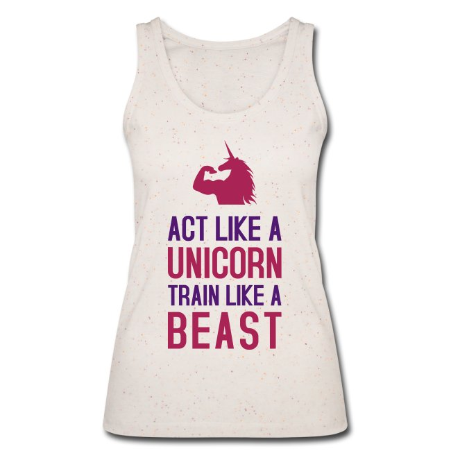 Act like a Bizepseinhorn: Frauen Bio Tank Top