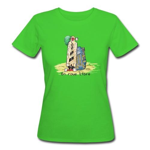 Tshirt bio femme vert ERL sktsc txt - T-shirt bio Femme