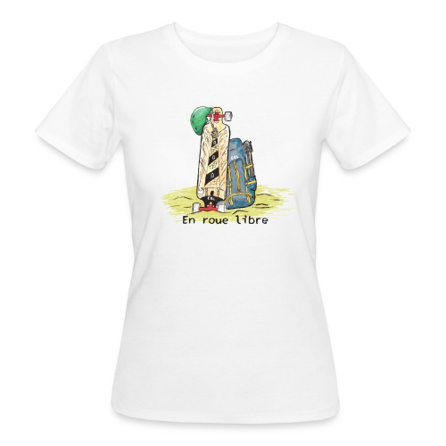 Tshirt bio femme blanc ERL sktsc txt - T-shirt bio Femme