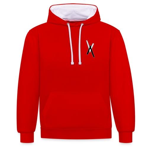 Vice Versa Red 'n' White Hoodie - Contrast Colour Hoodie