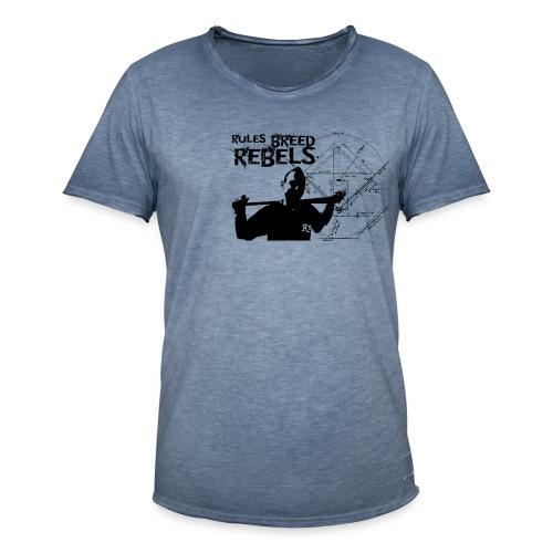 Vintage Rules Breed Rebels - Männer Vintage T-Shirt