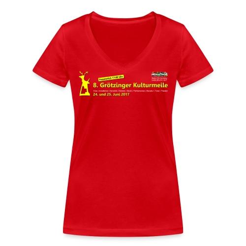 Frauen-Shirt 8. Grötzinger Kulturmeile  - Frauen Bio-T-Shirt mit V-Ausschnitt von Stanley & Stella