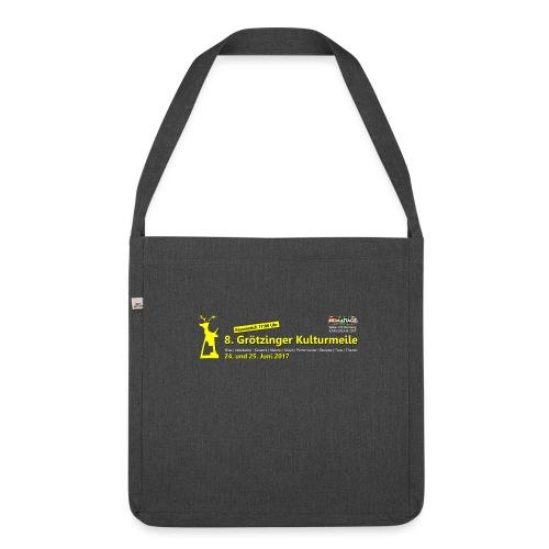 Umhängetasche 8. Grötzinger Kulturmeile - Schultertasche aus Recycling-Material