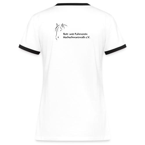 RFV Hochschwarzwald Damen Kontrast T-Shirt (Druck schwarz) - Frauen Kontrast-T-Shirt