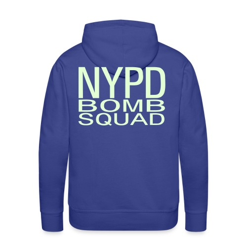 N Y P D BOMB SQUAD DOS - Sweat-shirt à capuche Premium pour hommes