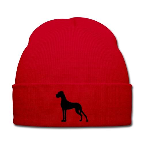 Dogge schwarz - Wintermütze