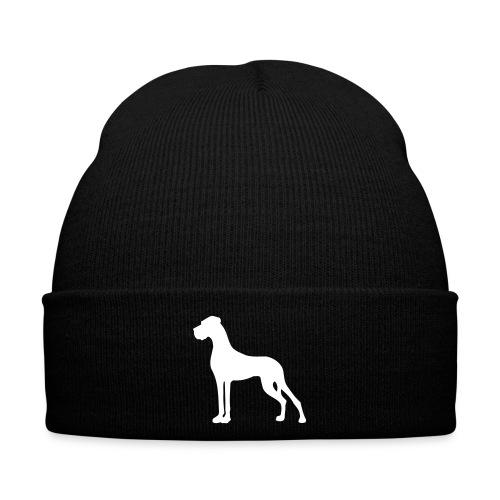 Dogge weiss - Wintermütze