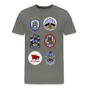 HTFC Badge Collection T-shirt Alternative Version - Men's Premium T-Shirt