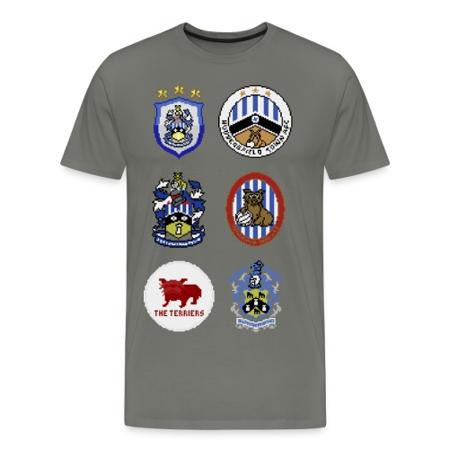 HTFC Badge Collection T-shirt Alternative Version - Men's Premium T-Shirt