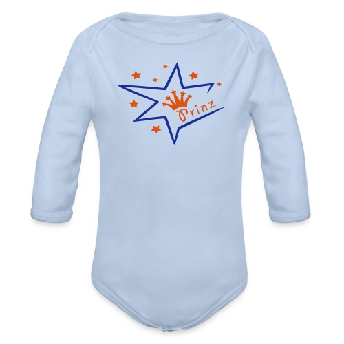 Baby Body mit Prinz - Baby Bio-Langarm-Body