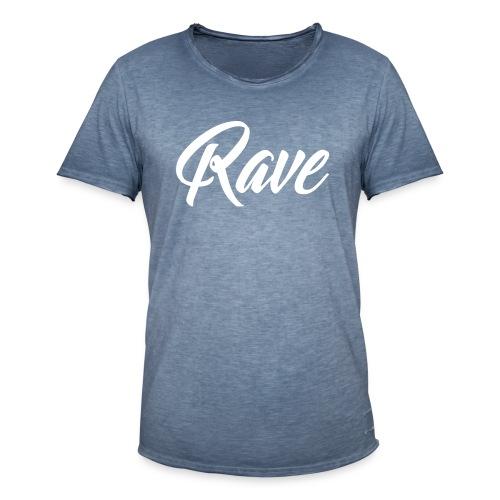 Rave Vintage-shirt | Men | Blue meliert - Männer Vintage T-Shirt