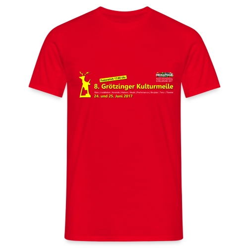 Herren-Shirt 8. Grötzinger Kulturmeile  - Männer T-Shirt
