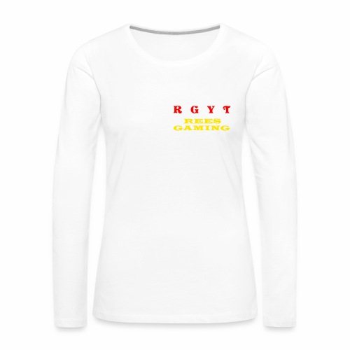 Woman's long sleeve reesgaming top - Women's Premium Longsleeve Shirt