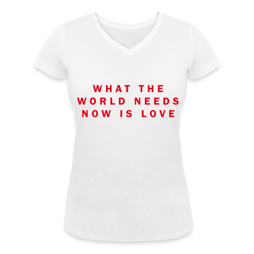 Love - Girl - Col V - T-shirt bio col V Stanley & Stella Femme