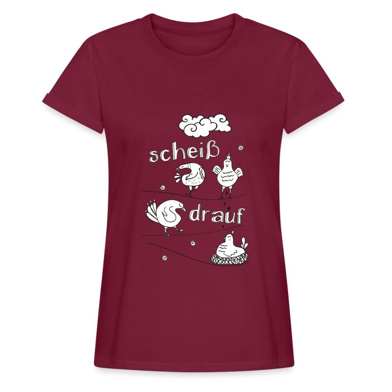 AAV - Scheiss drauf sw - Frauen Oversize T-Shirt