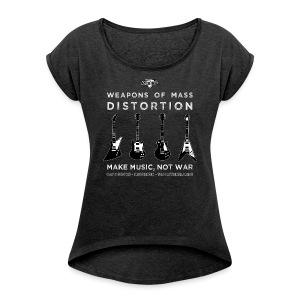 Weapons Of Mass Distortion (Ladies) - Vrouwen T-shirt met opgerolde mouwen