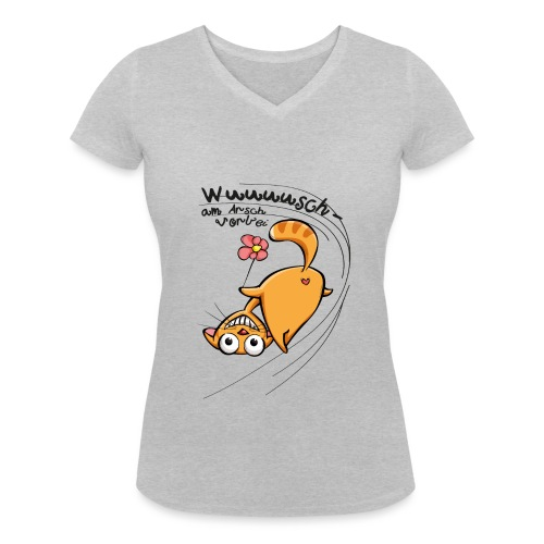 AAV - Wuuuusch - Frauen Bio-T-Shirt mit V-Ausschnitt von Stanley & Stella