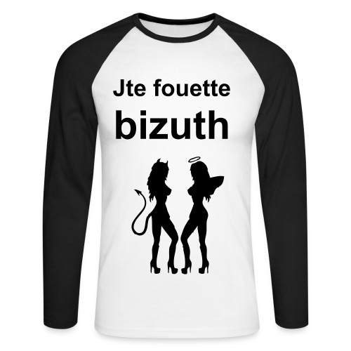 Je te fouette bizuth - T-shirt baseball manches longues Homme