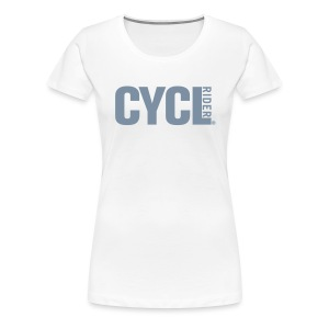 cyclrider shirt ladies silver - Women's Premium T-Shirt