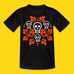 Day of the Dead Skulls - Teenage T-shirt