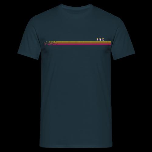 Robo-Collection: Pixelstripe - Men's T-Shirt
