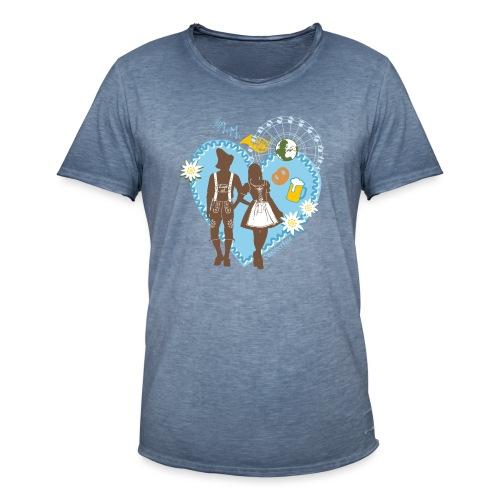 Oktoberfest - Trachtenpaar 2 - Männer Vintage T-Shirt