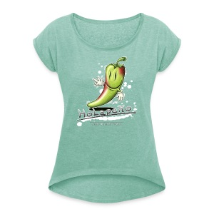 Holapeno - Frauen T-Shirt mit gerollten Ärmeln