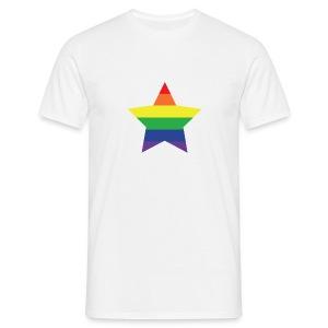 Rainbow star T-shirt, men - Men's T-Shirt