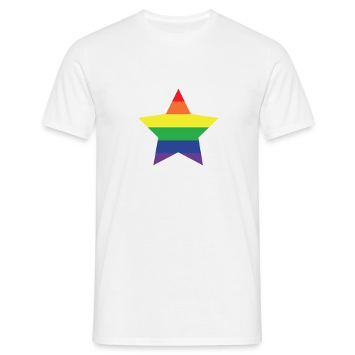 Rainbow star T-shirt, men - Men's T-Shirt