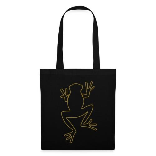 Black golden frog shopping bag - Tote Bag