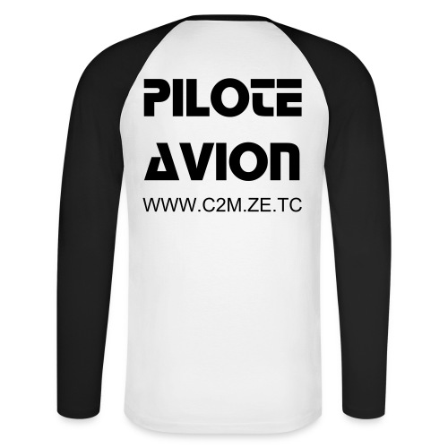 T-Shirt Manches Longues AVION - T-shirt baseball manches longues Homme