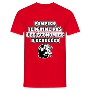 POMPIER, JE N'AIME PAS LES ÉCONOMIES D'ÉCHELLES - JEUX DE MOTS - FRANCOIS VILLE - T-shirt Homme
