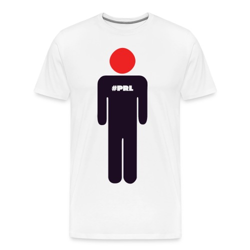 #PRL - Man with the red face (large logo) - Men's Premium T-Shirt