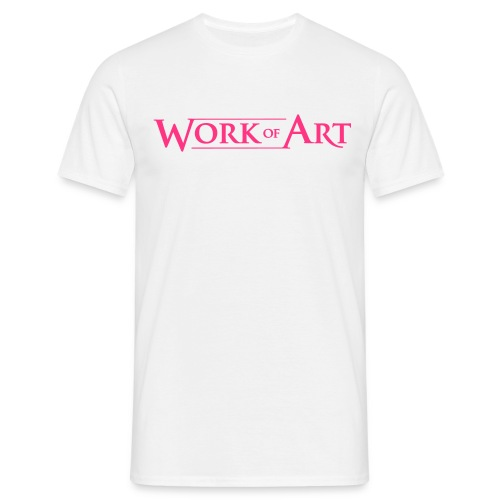 pink on white - Men's T-Shirt